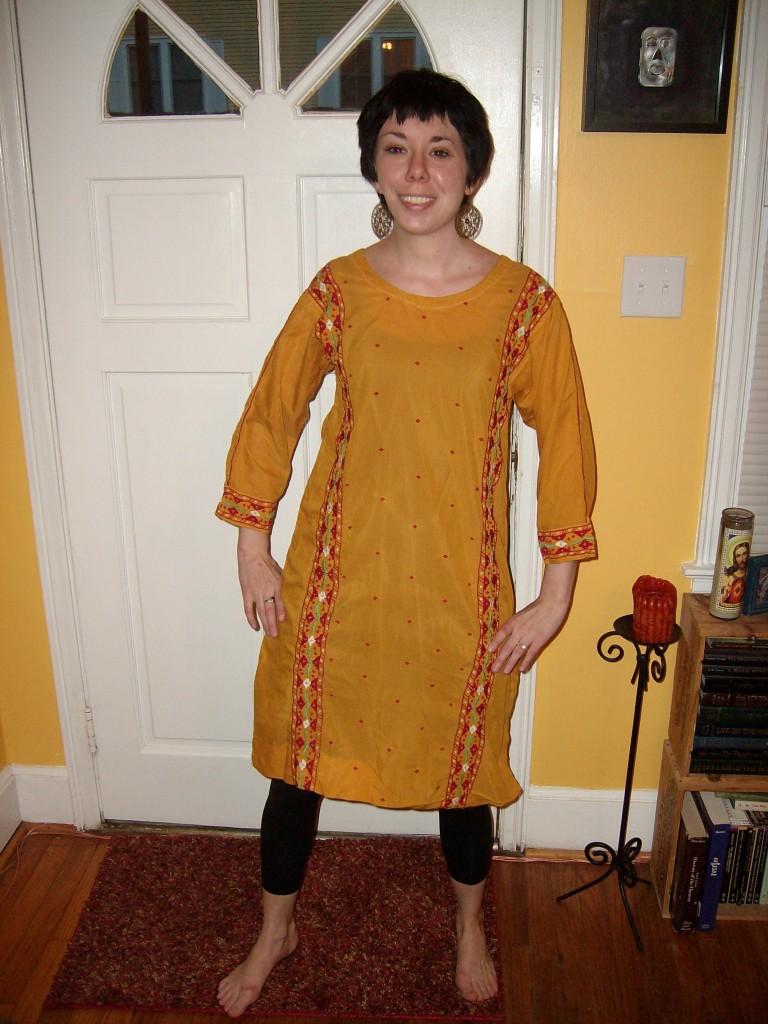 A Happy Hippie Dress to Top Refashion 2