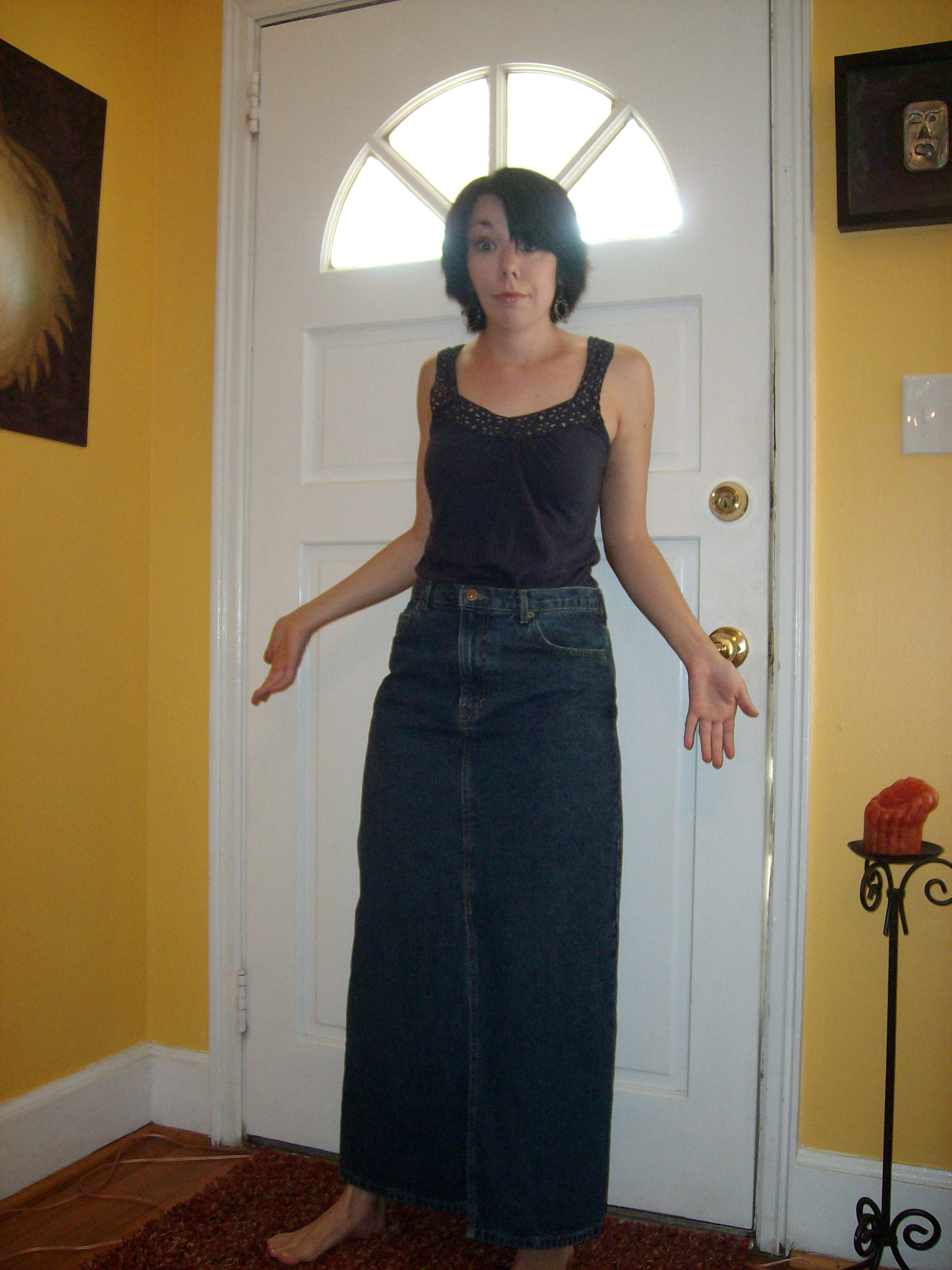 A Denim Skirt (Why didn't I have one of these already???) 5