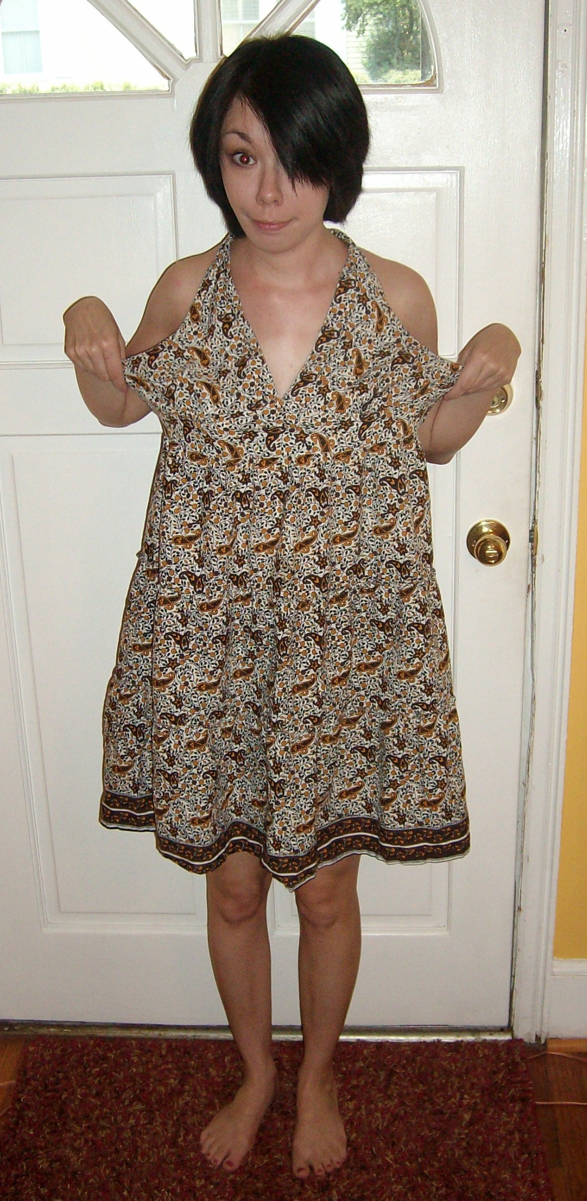 Day 28:  Pretty in Paisley Dress 2