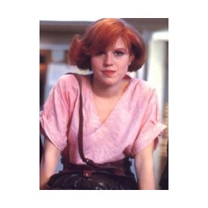 molly ringwald in pink top