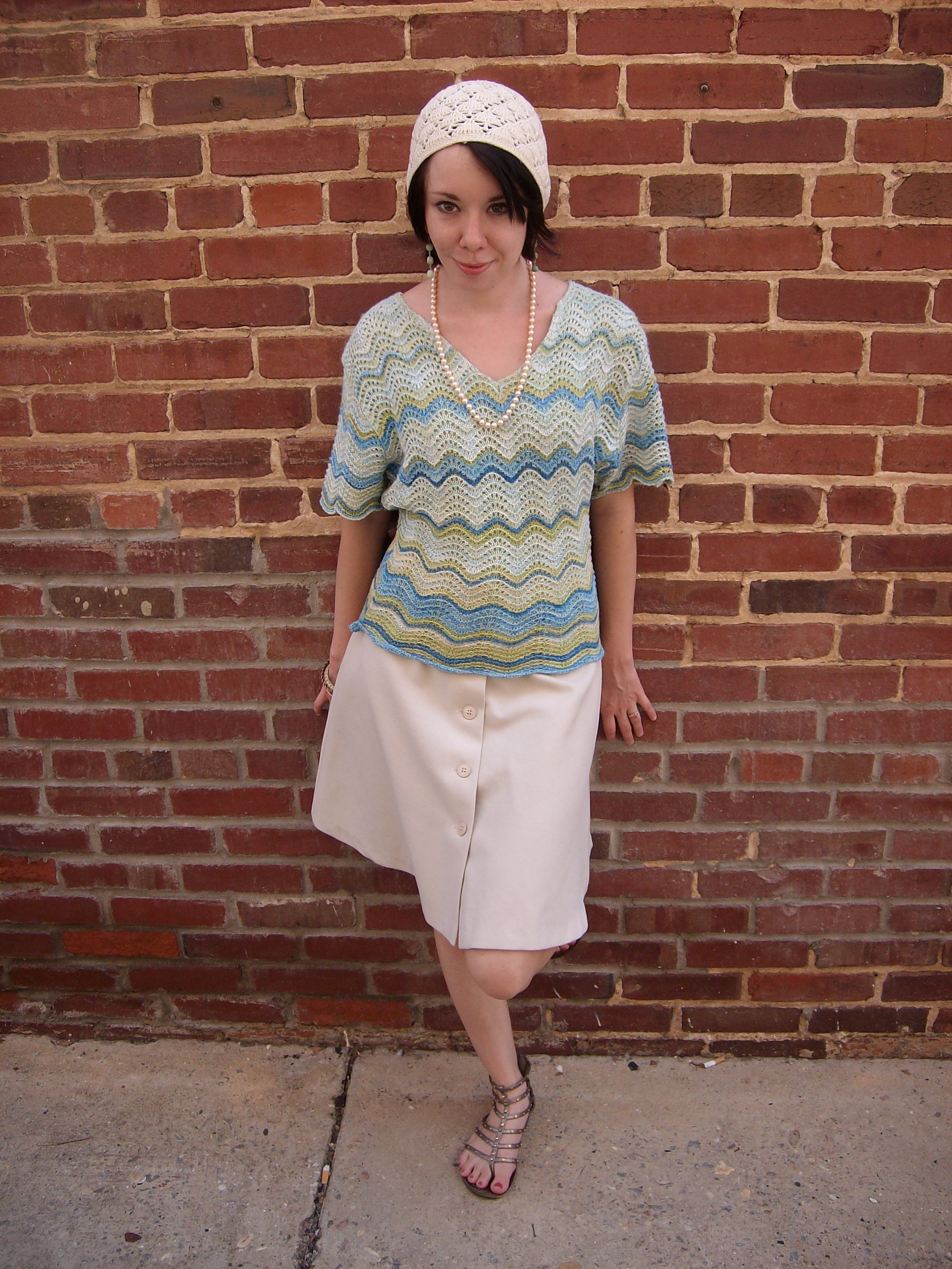 Day 19:  Silk Cargo Skirt 10
