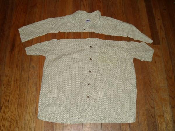 Day 36: Shirt is Skirt: A Men's Short Sleeve Button Up Shirt to Skirt Refashion 3