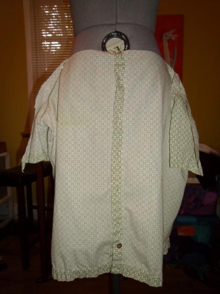 Day 36: Shirt is Skirt: A Men's Short Sleeve Button Up Shirt to Skirt Refashion 4