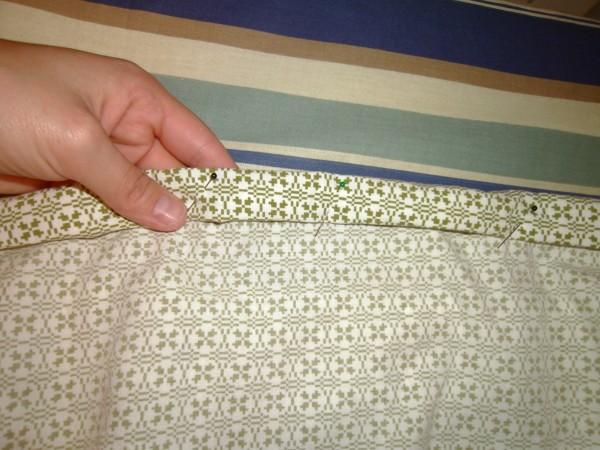 Day 36:  Shirt is Skirt: A Men's Short Sleeve Button Up Shirt to Skirt Refashion 6