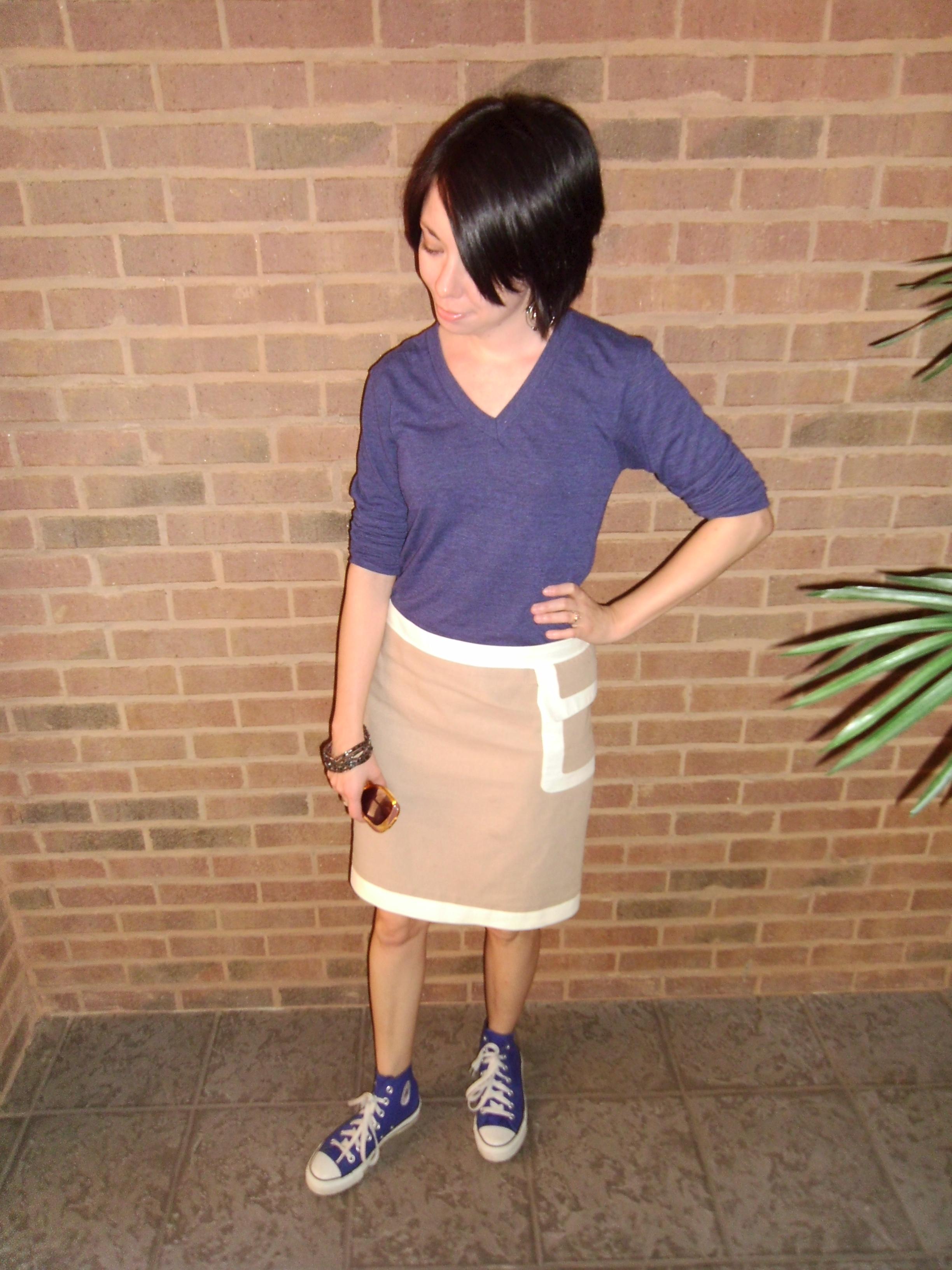 Day 40:  A Basic Khaki Skirt 7
