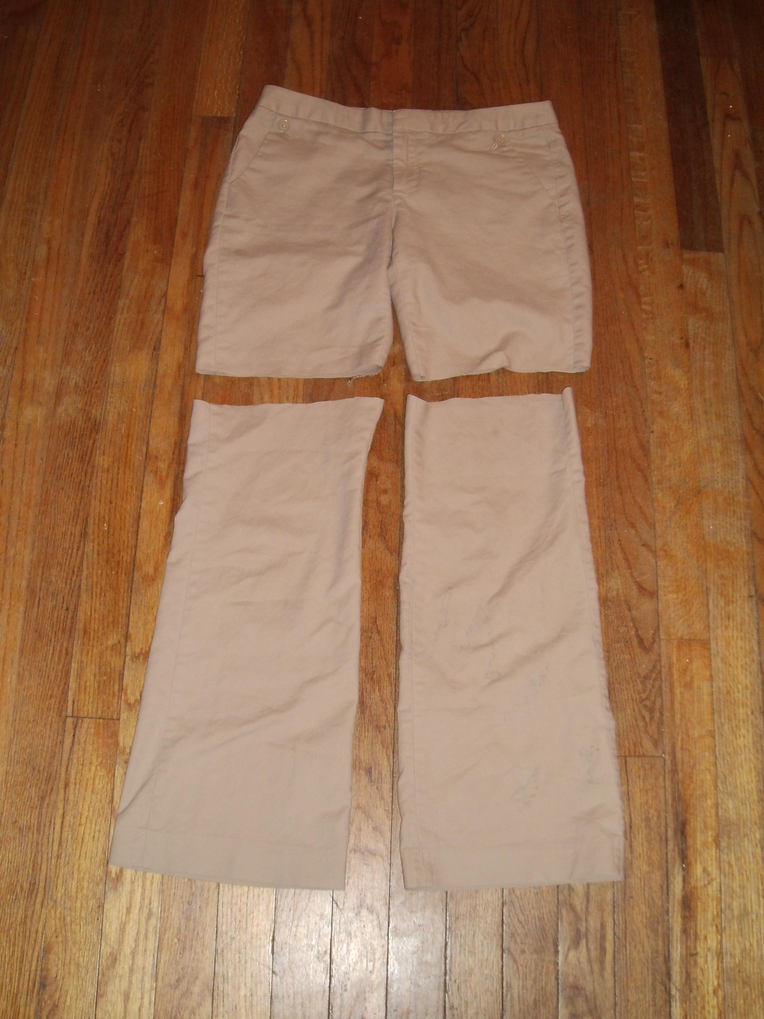 Day 43: Khaki Shorts & A No-Sew Top 3
