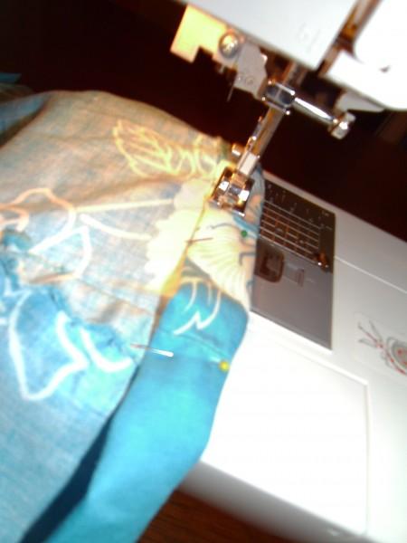 Stitching hem of bolero