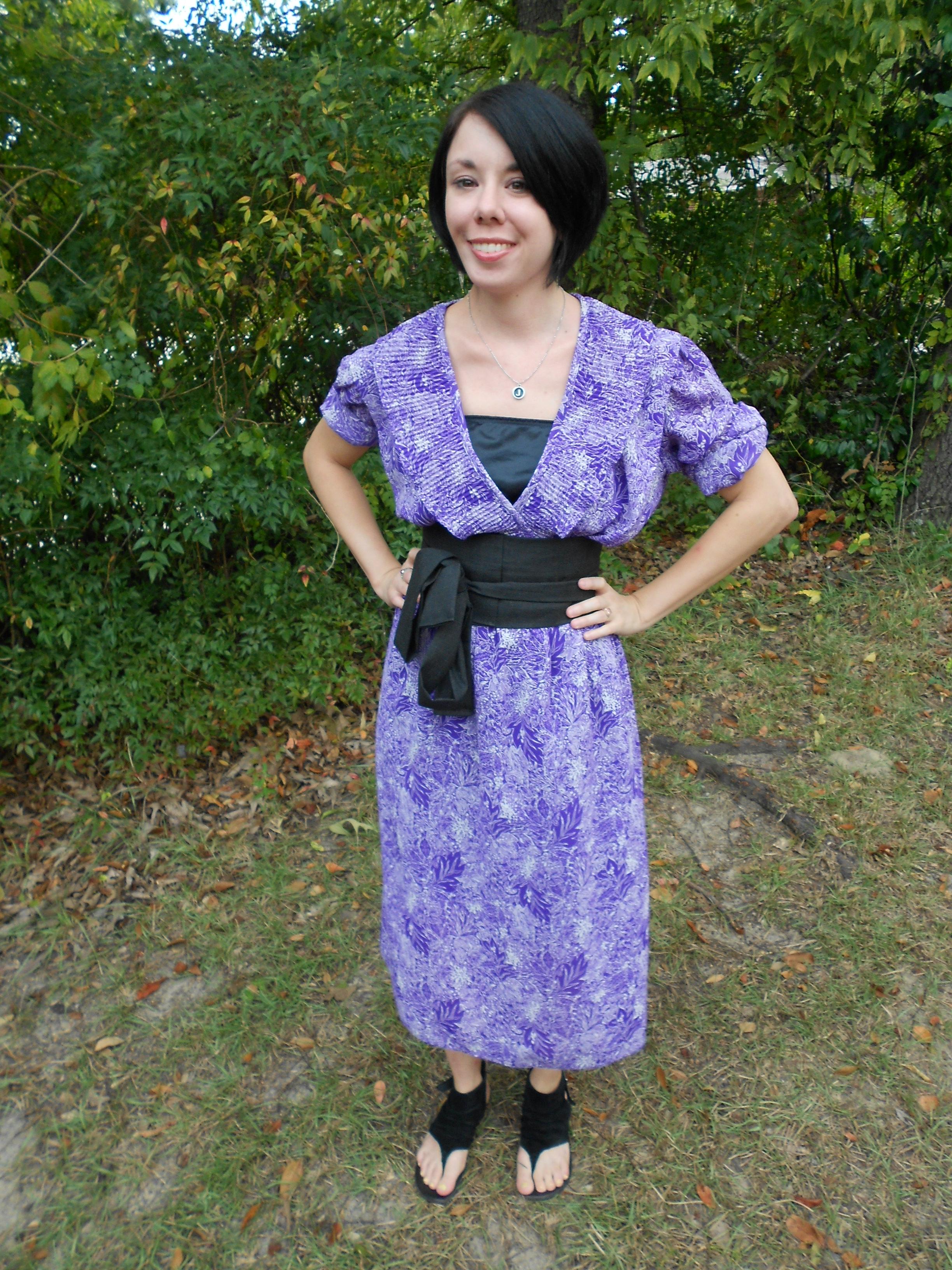Day 81:  Purple Rainforest Dress 4
