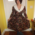 Day 95:  Apple Orchard Frumpy Collared Dress Refashion