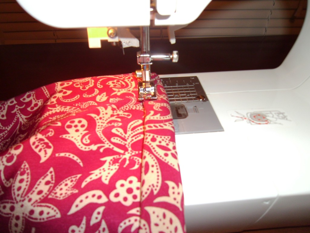 sewing bottom hem on dress