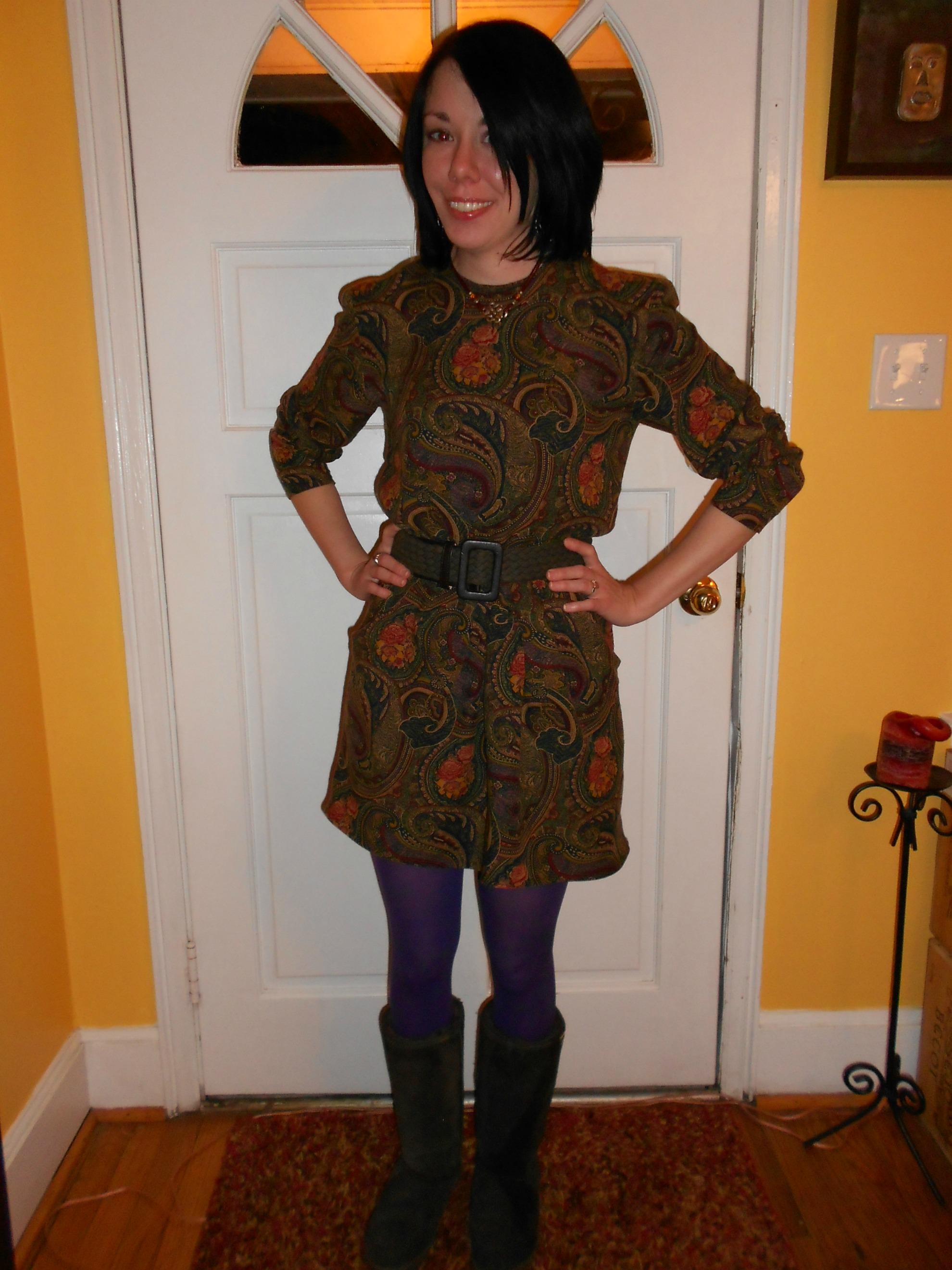 Day 198: Plucky in Paisley Dress 9