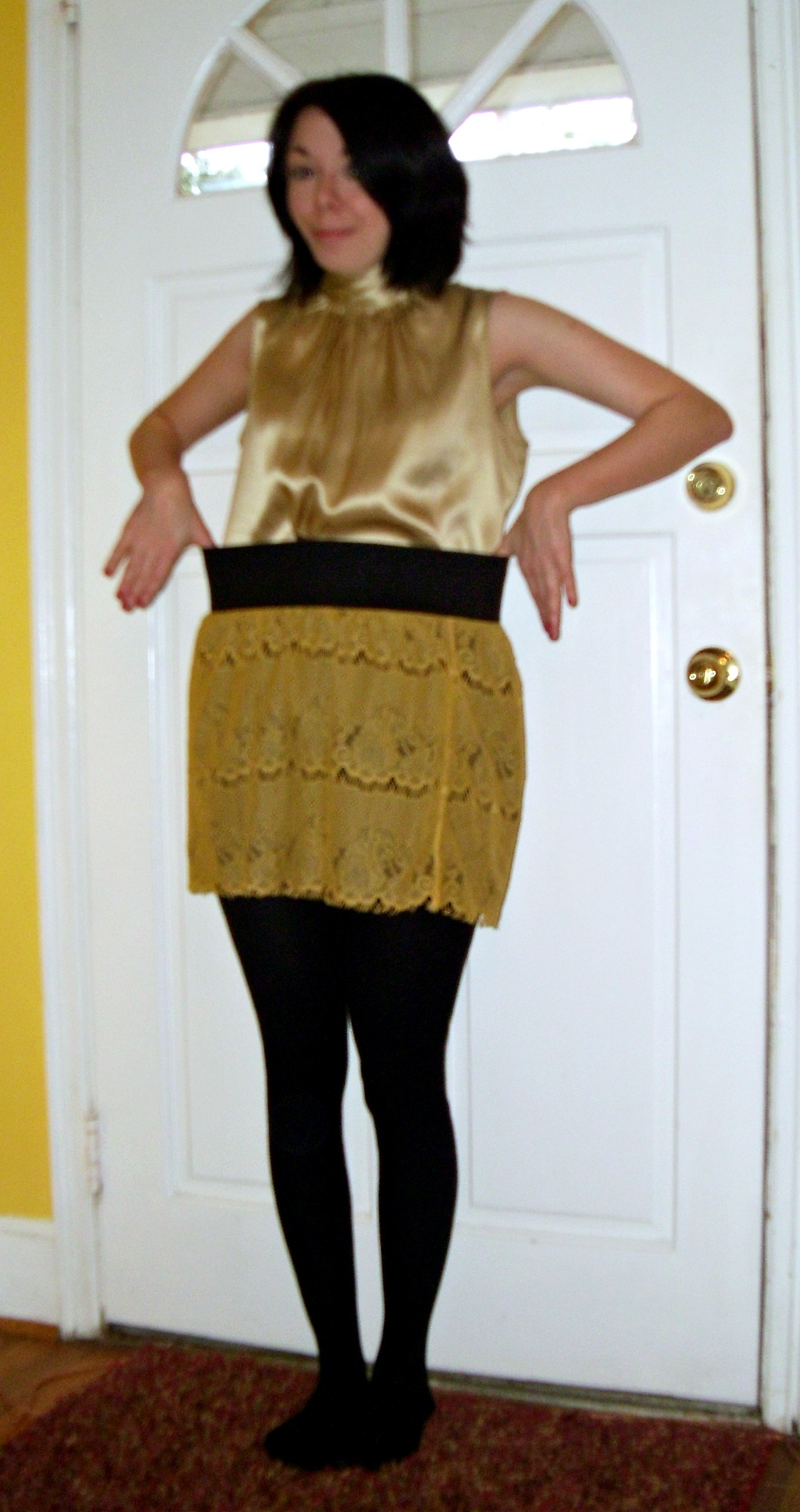 Day 203:  Living My Life Like It's Golden Skirt 4