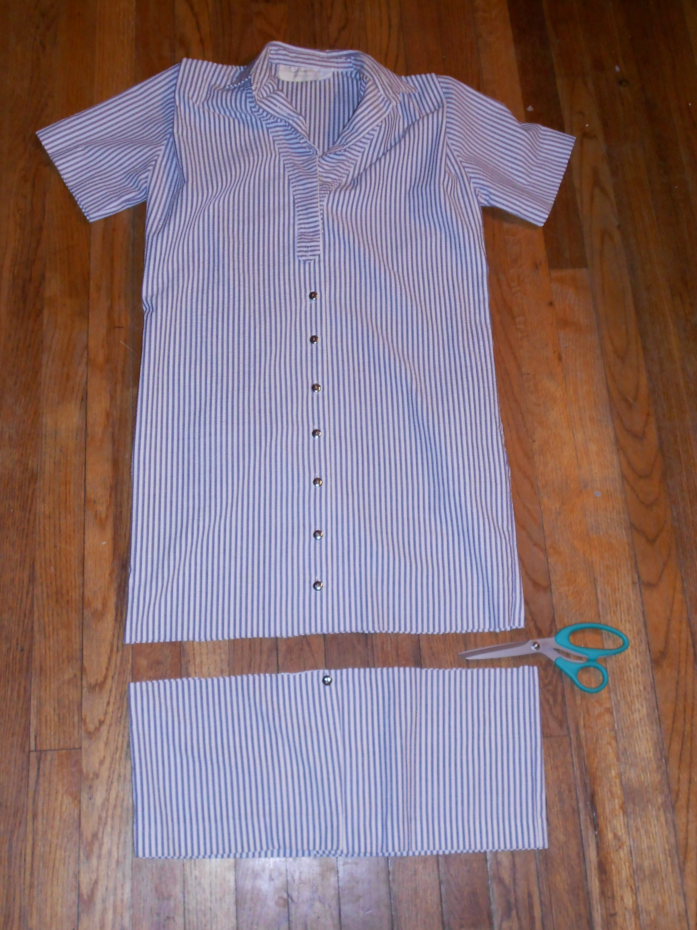 Day 210:  Sucker for Seersucker Dress 4