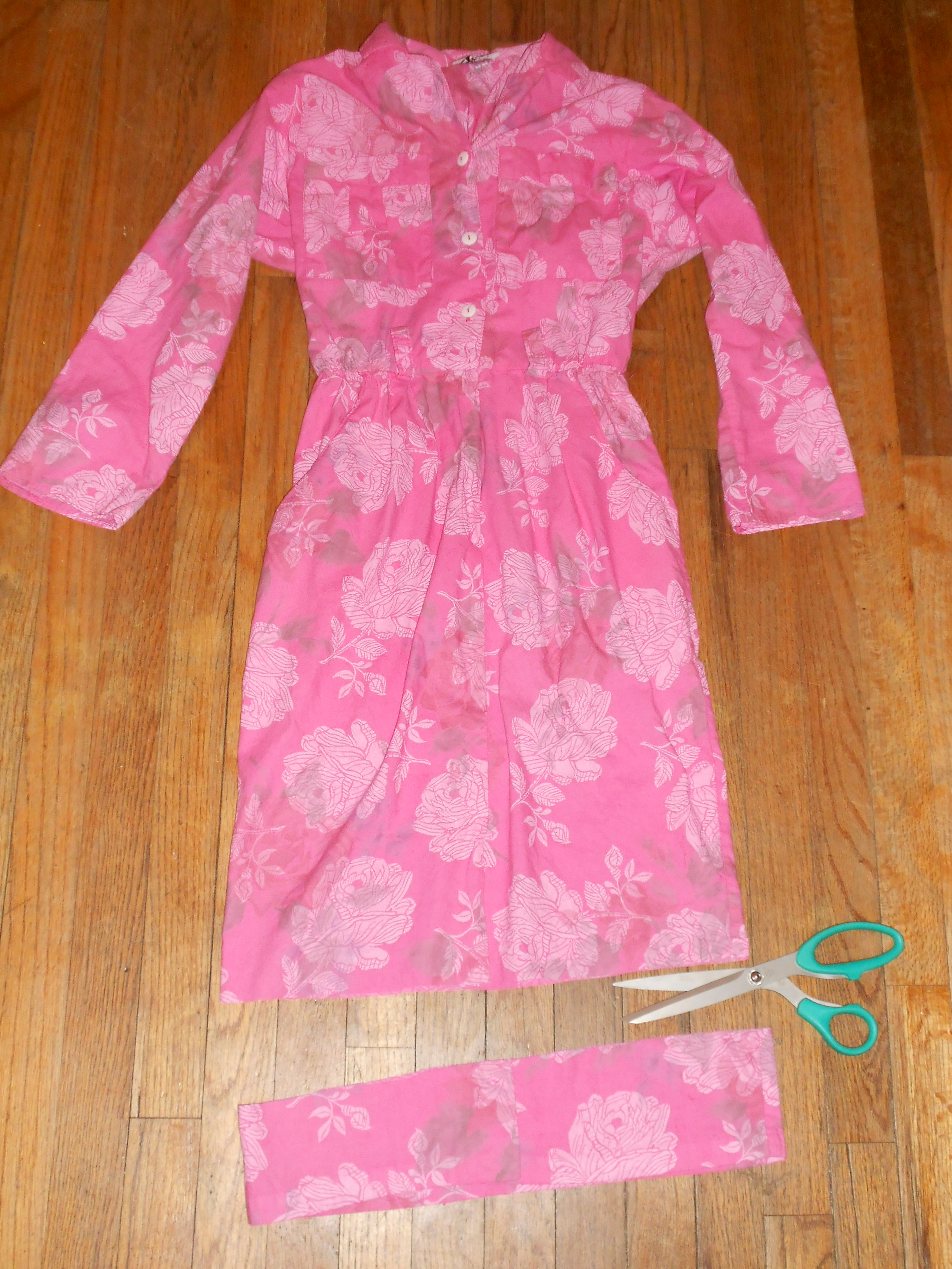 Day 214:  A Lilly Pulitzer-Inspired Dyed Dress Refashion 8