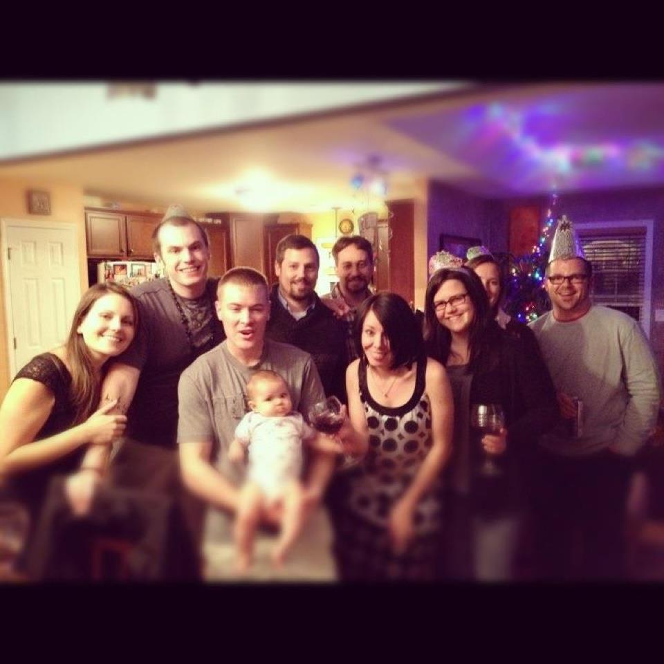 jillian with friends for new years eve