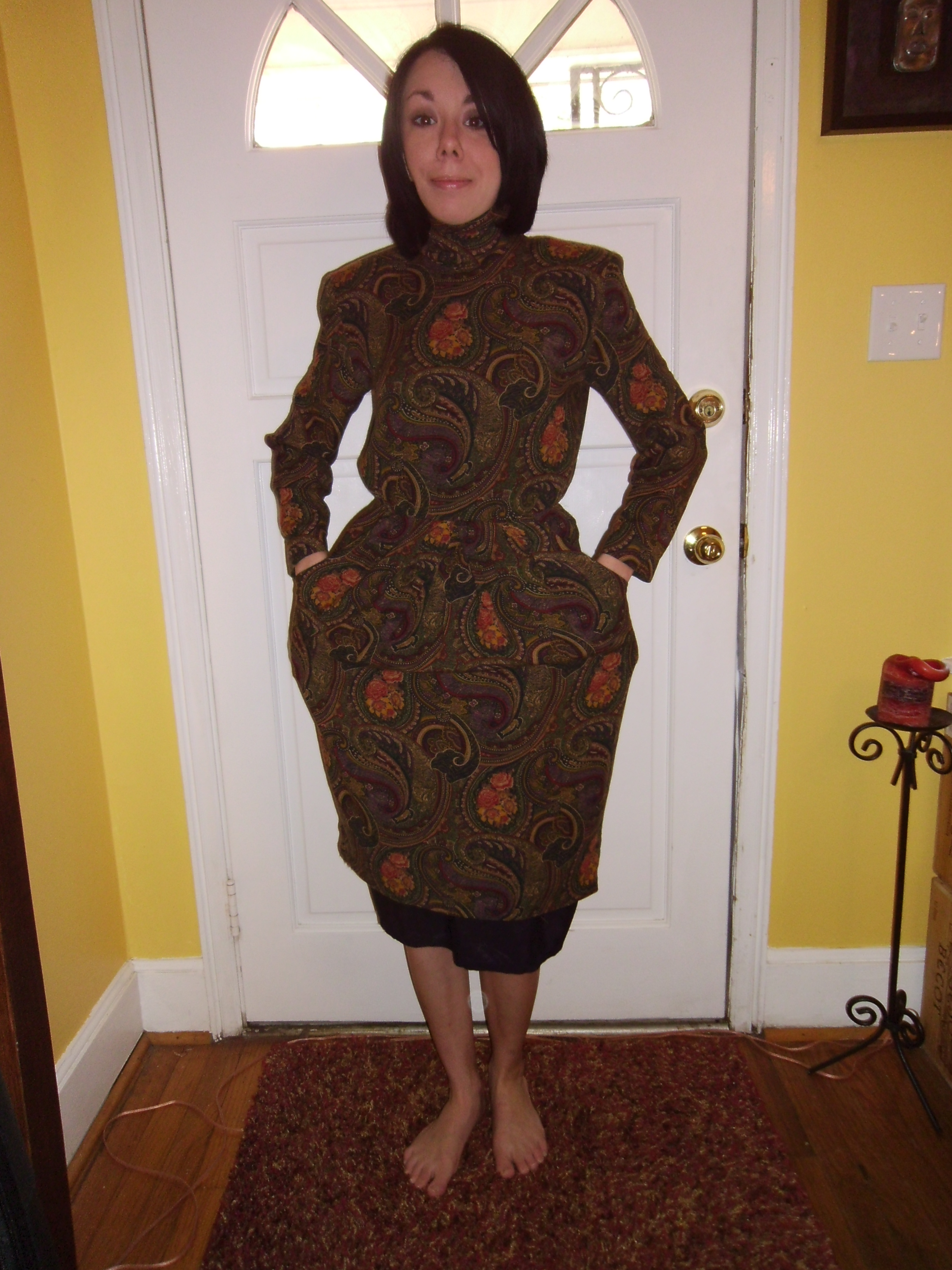 Day 198: Plucky in Paisley Dress 2
