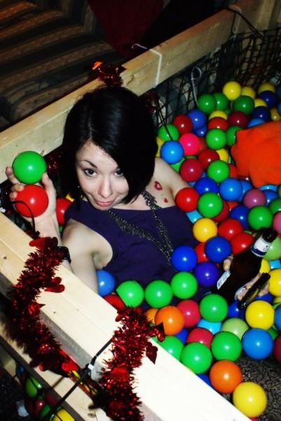 Jillian in a ball pit