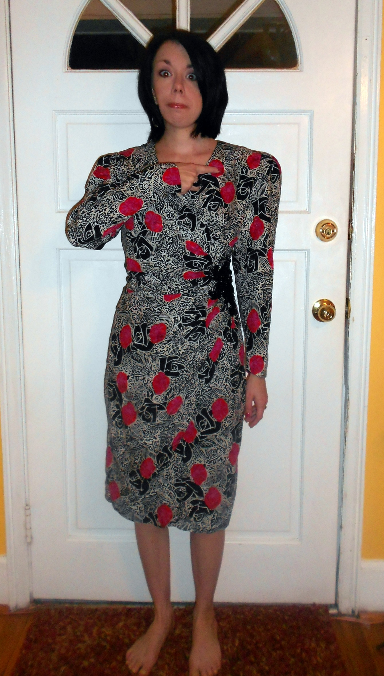 Day 232:  No-Sew Cocktail Dress! 2