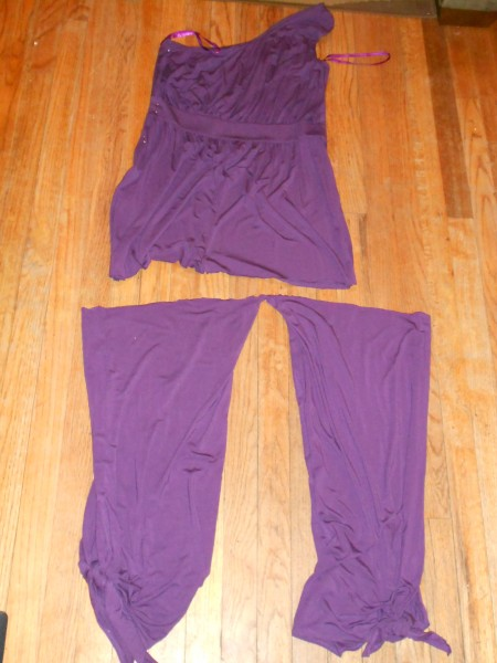 cutting legs off jumpsuit