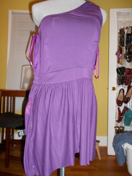 taking in dress on dress form
