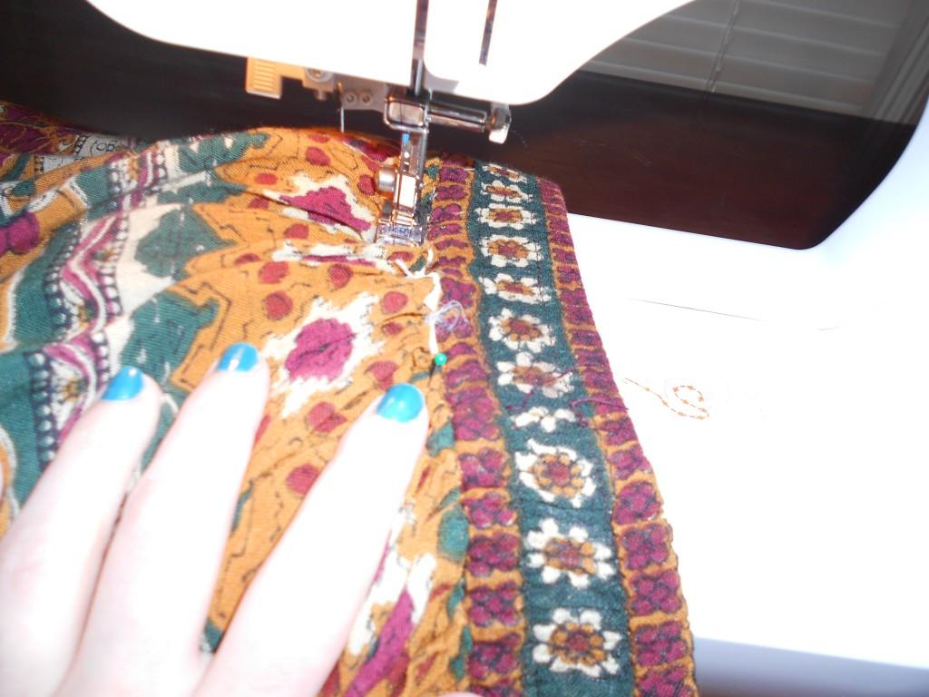 sewing skirt waist