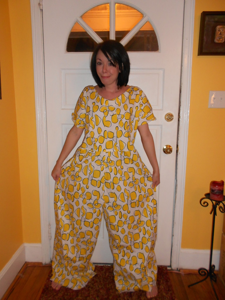 Day 230: Send in the Clowns: A Jumpsuit to Dress Refashion 2