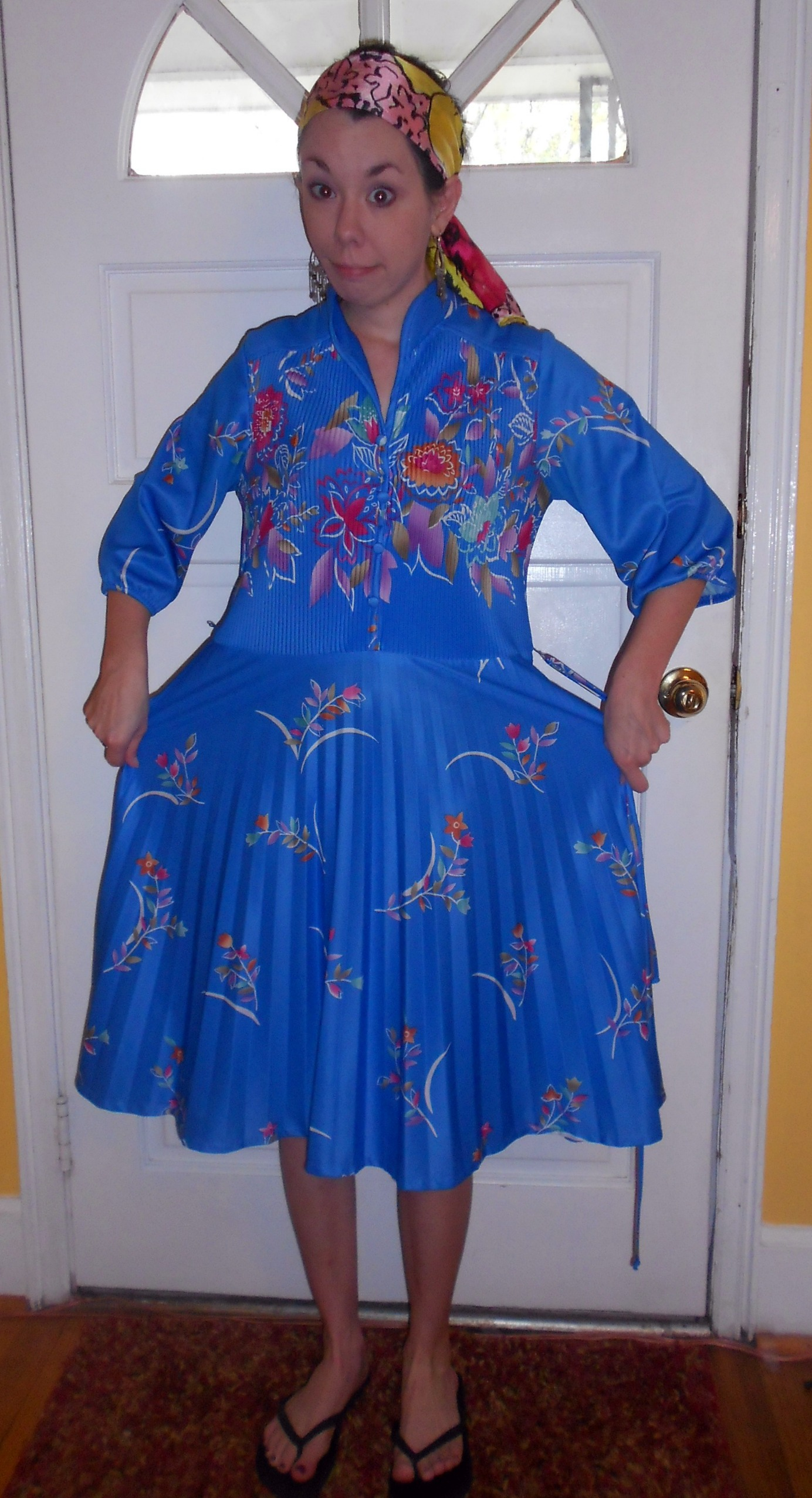 Day 245:  Mandarin Blue Dress 2