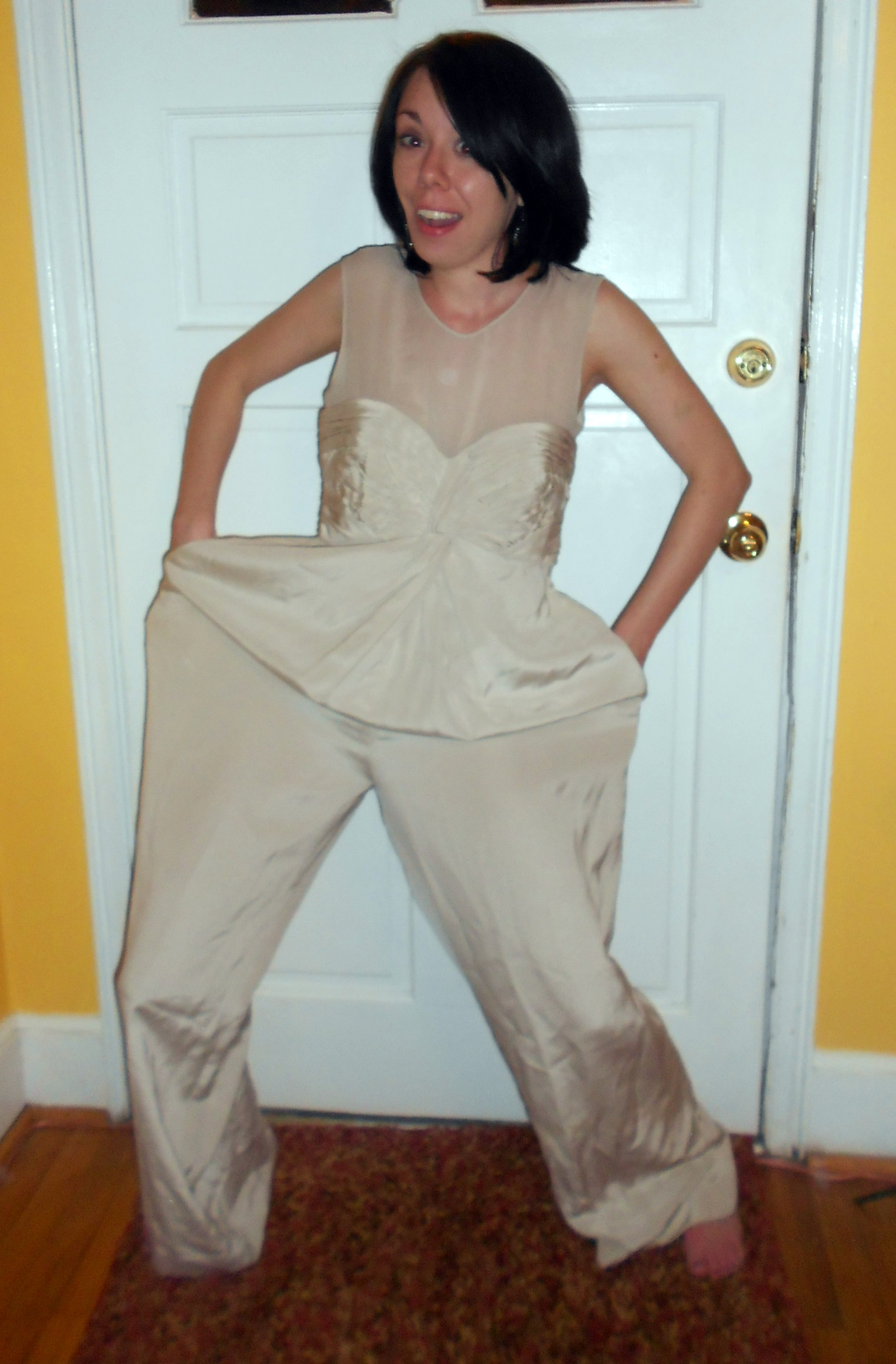 Day 254: Happy Birthday to Me: A Dyed Silk Jumpsuit-to-Dress Refashion 2