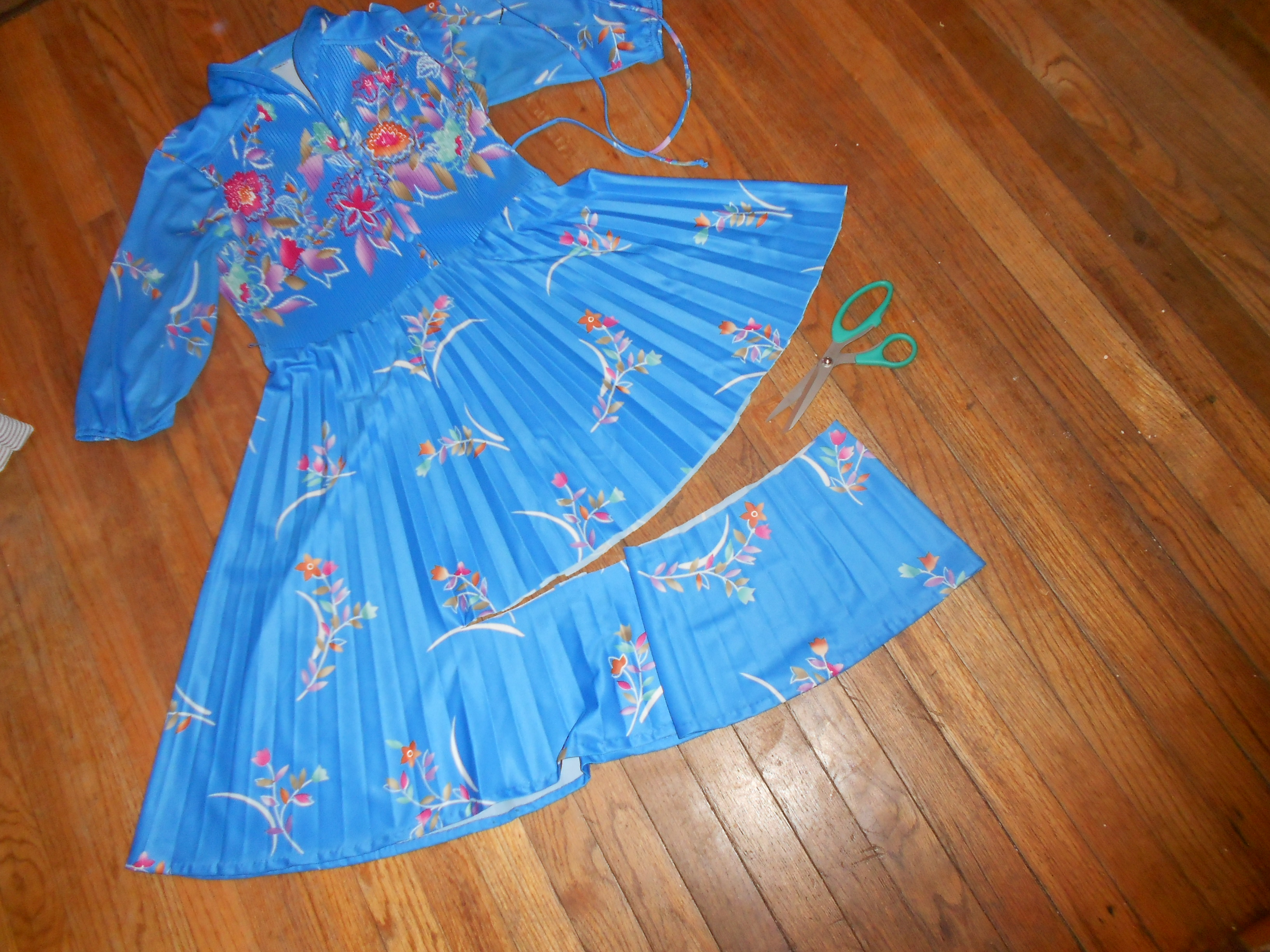 Day 245:  Mandarin Blue Dress 3