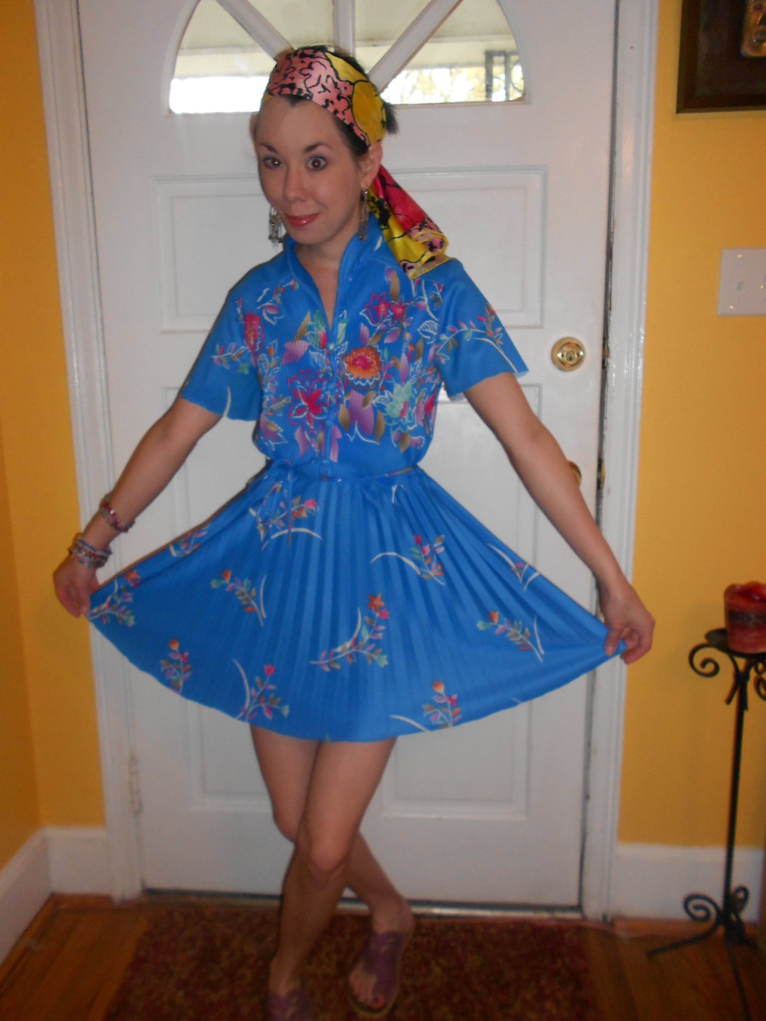 Day 245:  Mandarin Blue Dress 5