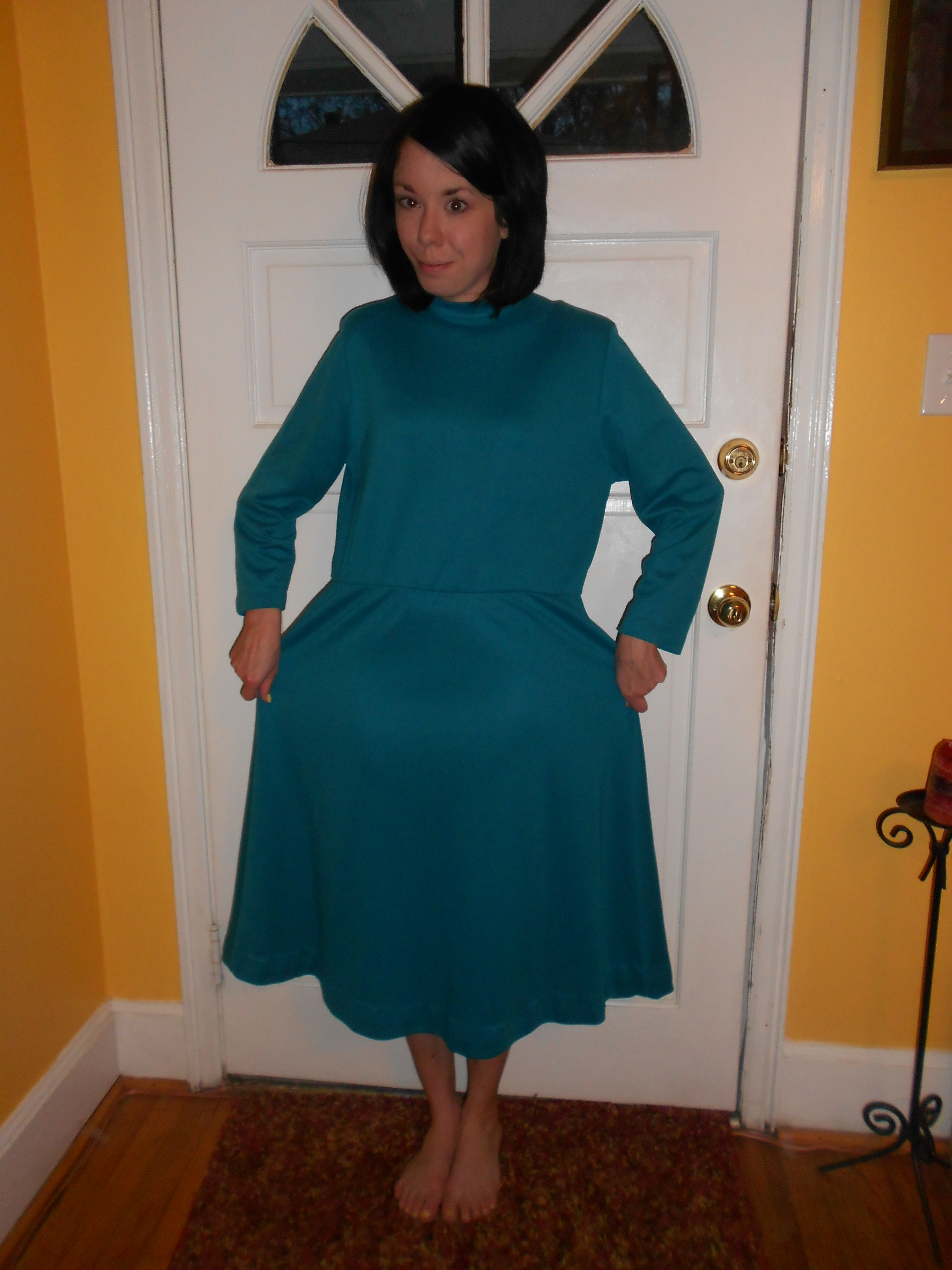 Day 256:  Teal Day Dress 2