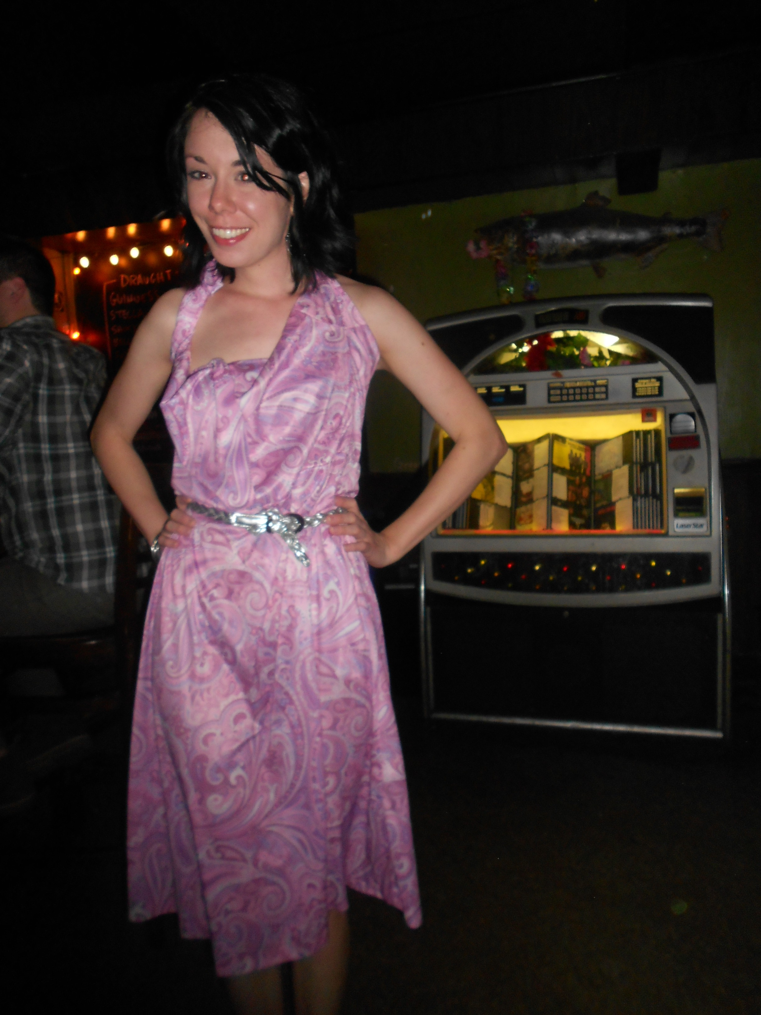 Day 263:  Pink Paisley Panther Dress 4