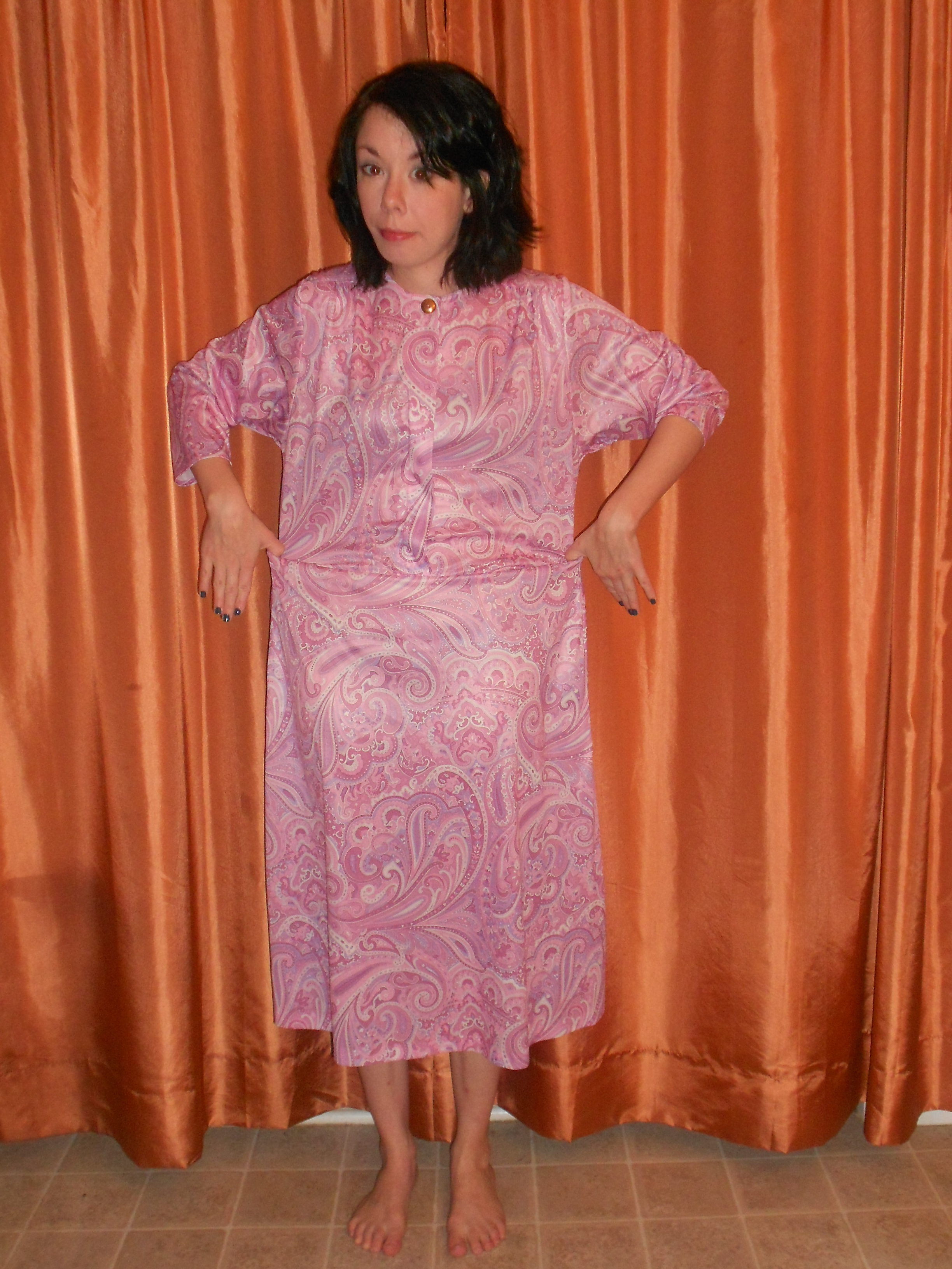 Day 263:  Pink Paisley Panther Dress 2