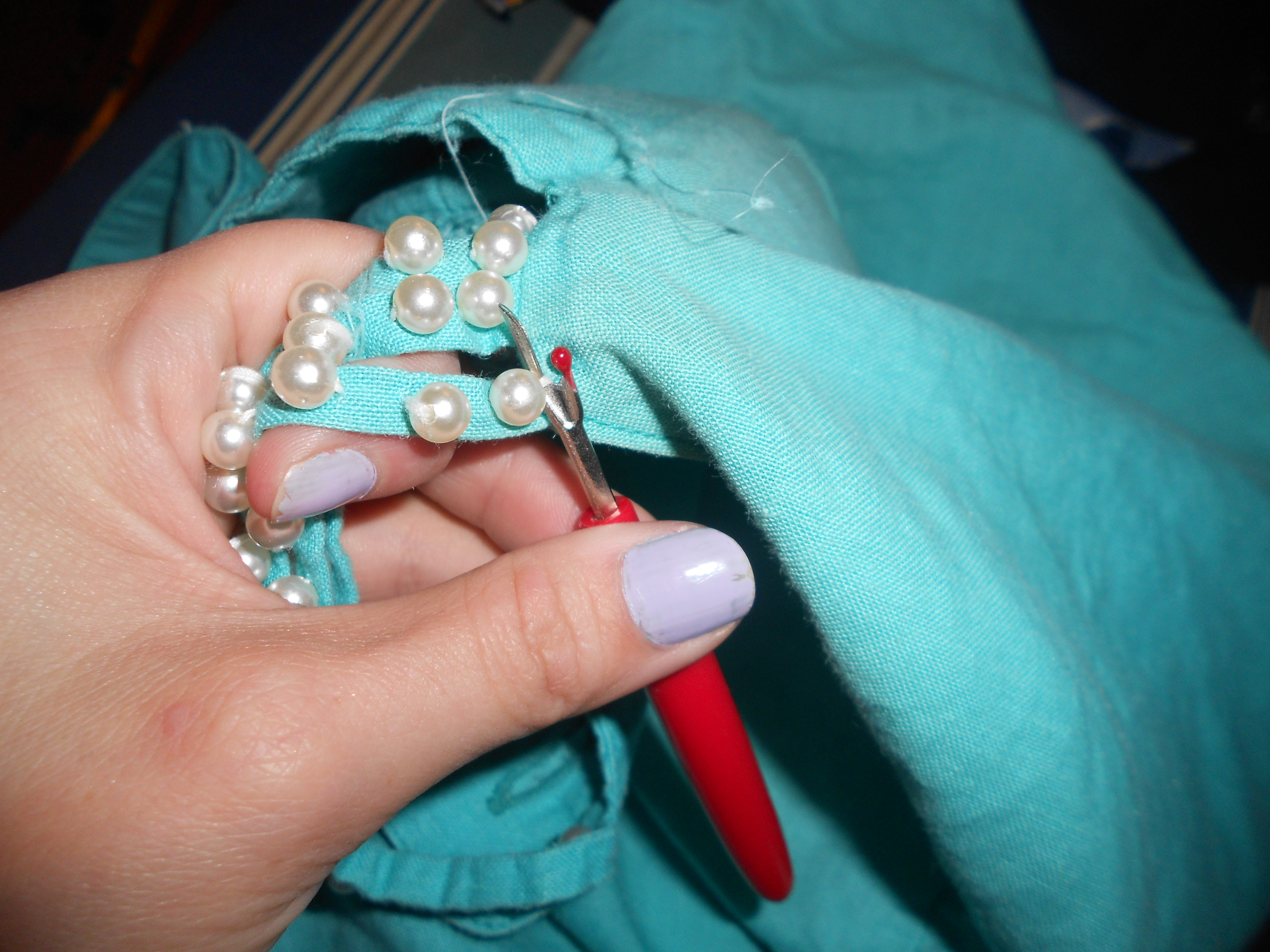 Day 294: A Sea Foam Dream Dress to Jacket Refashion 3