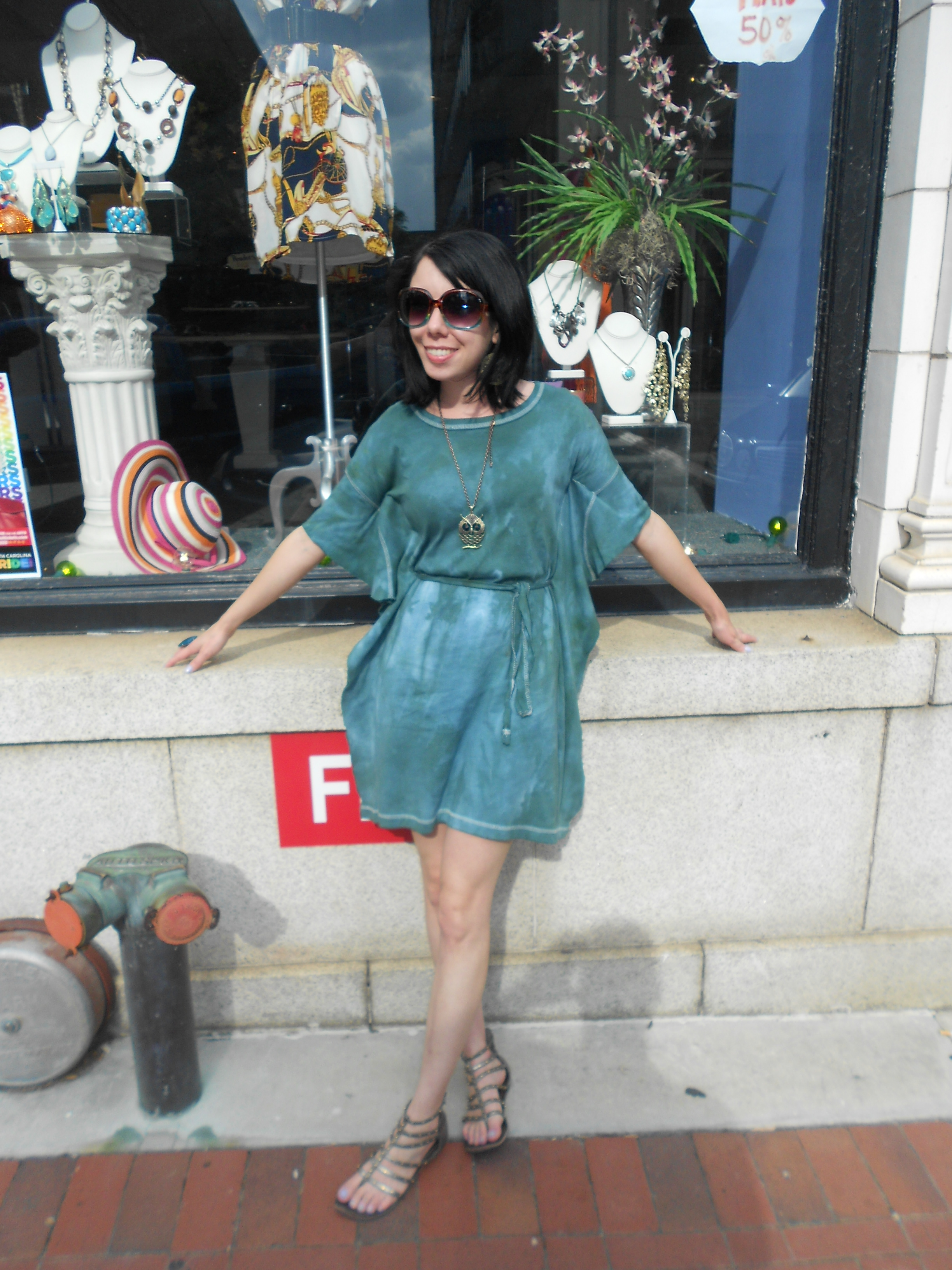 refashionista forest fairy dress: t-shirt to dress refashion after image