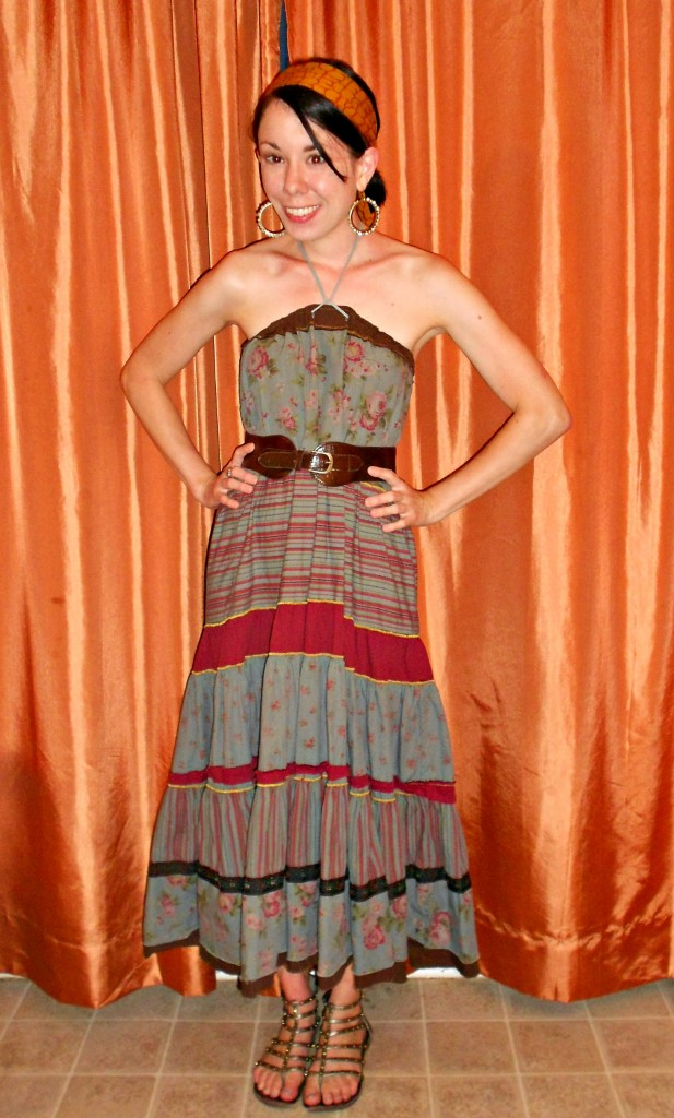 How to Wear a Tiered Skirt as a Halter Dress after