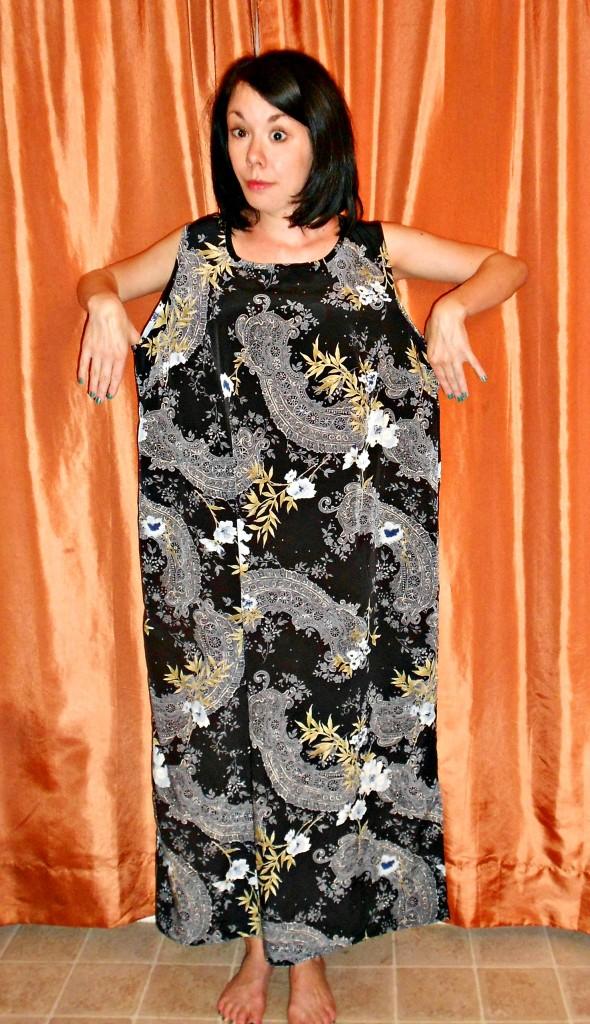 Day 322: Refashioner's Block: Dress to Top Refashion 1