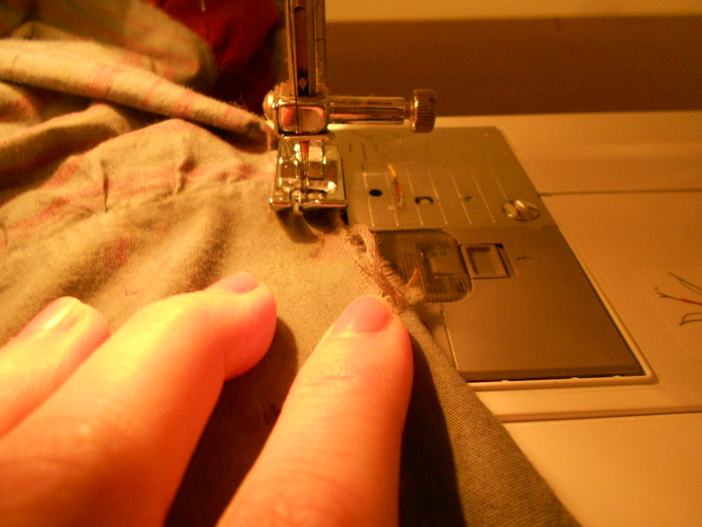 sewing hole