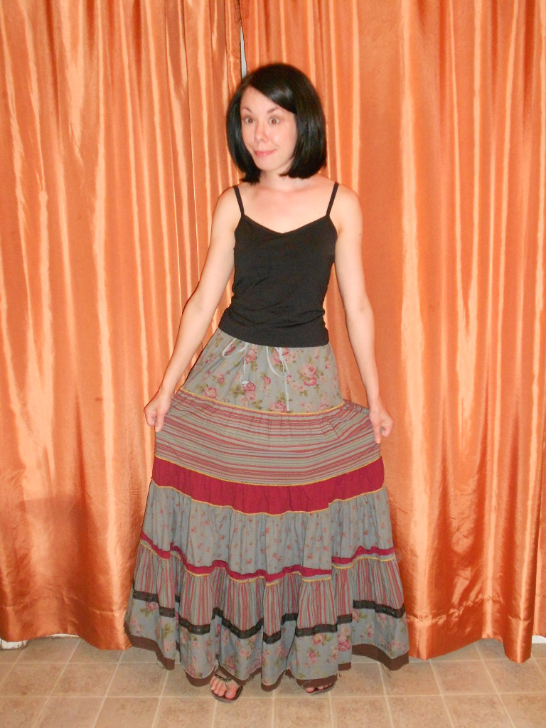 How to Wear a Tiered Skirt as a Halter Dress Before