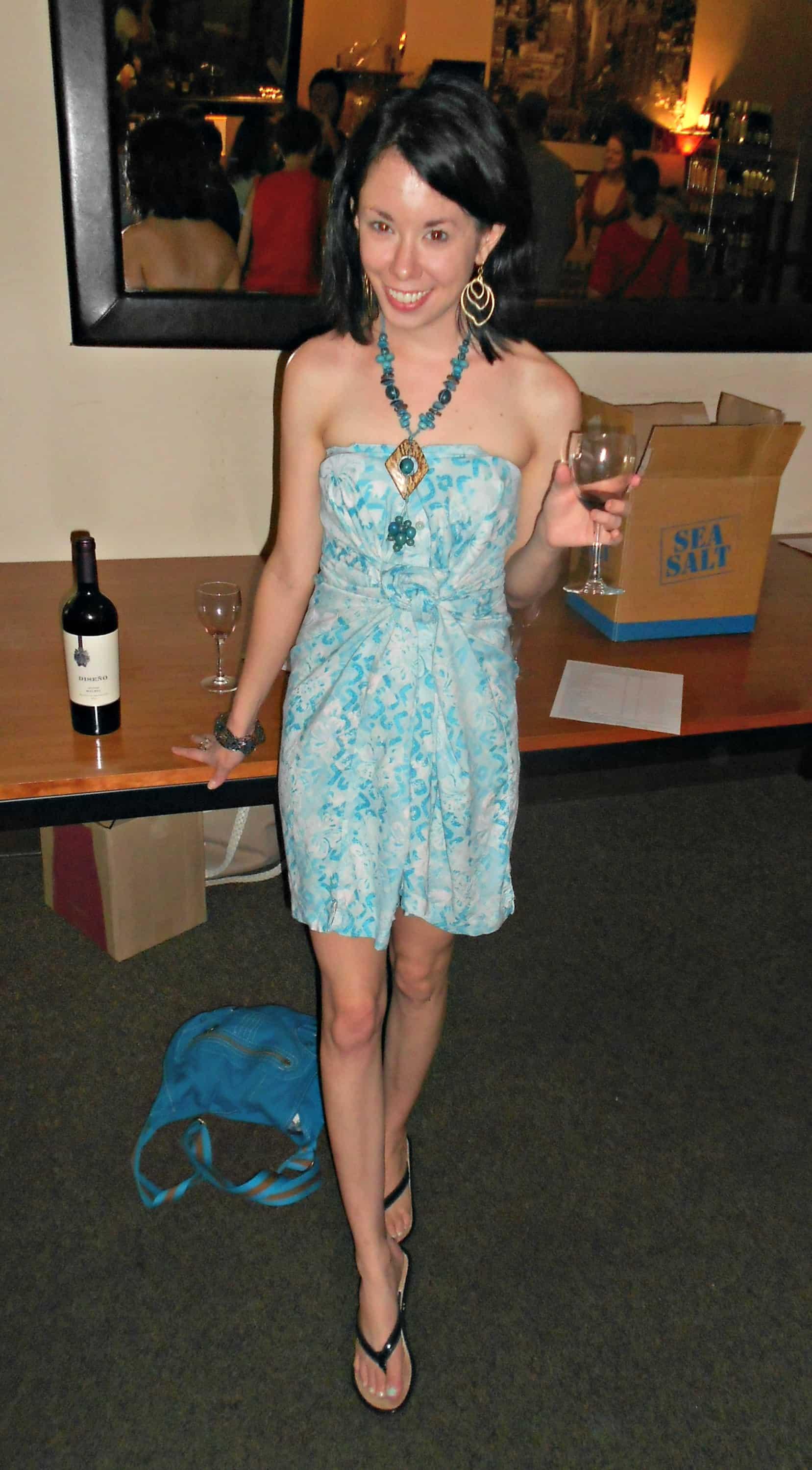 Day 352:  Blue Cove Dress 3