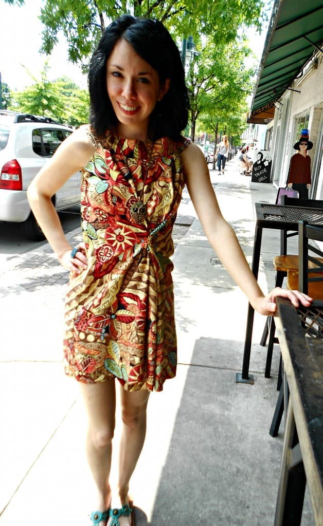 No-Sew Skirt to Dress Refashion after 3