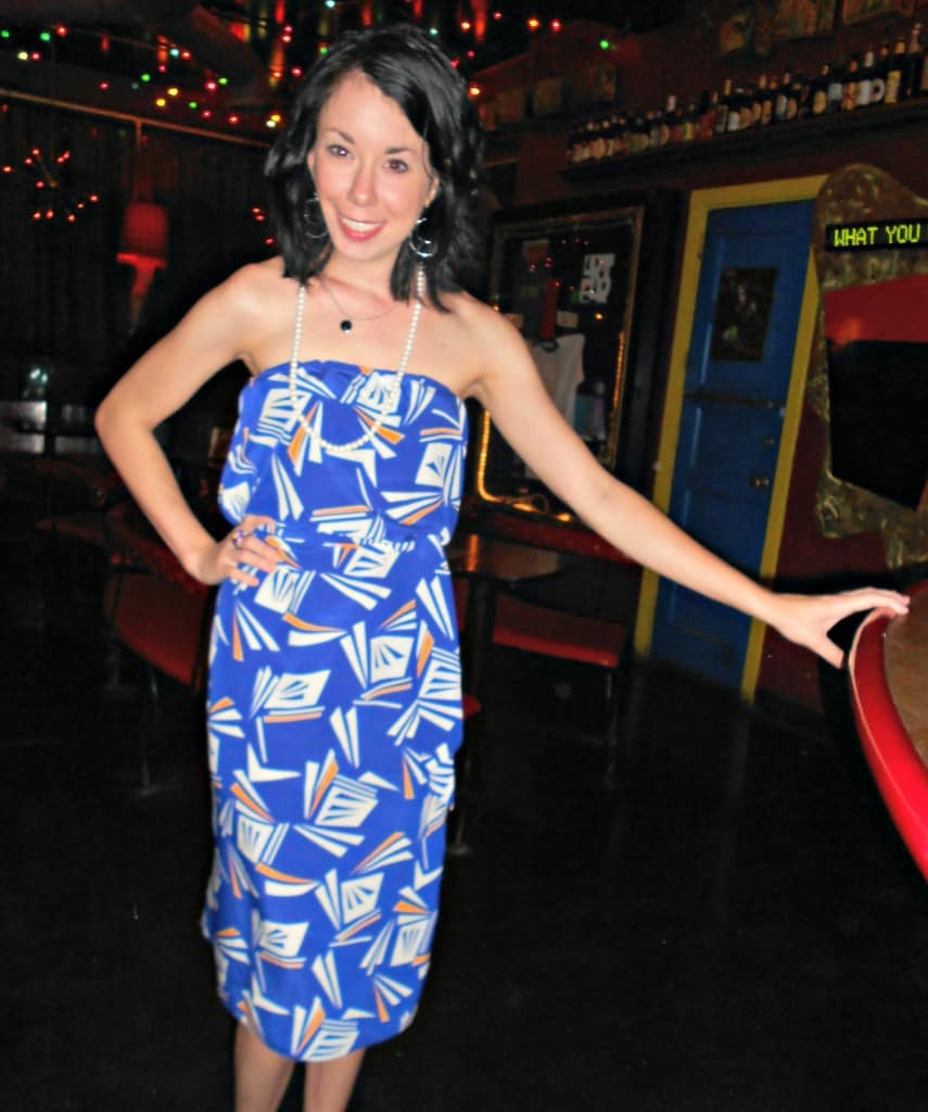 all the angles strapless dress refashion after