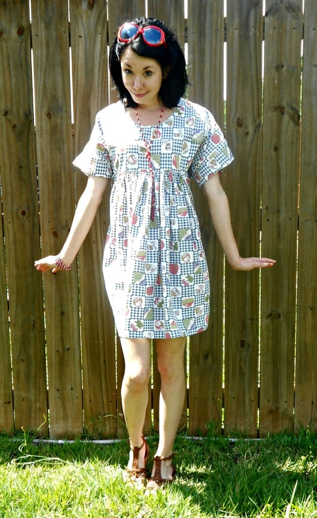 Dress from Housedress Refashion after