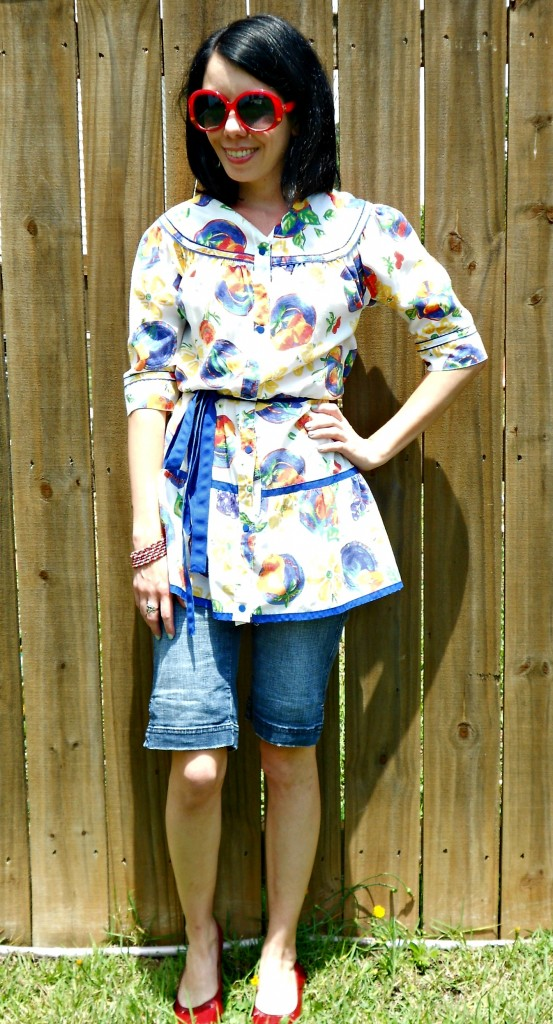 Day 336: Into the Garden: A House Dress to Top Refashion 8