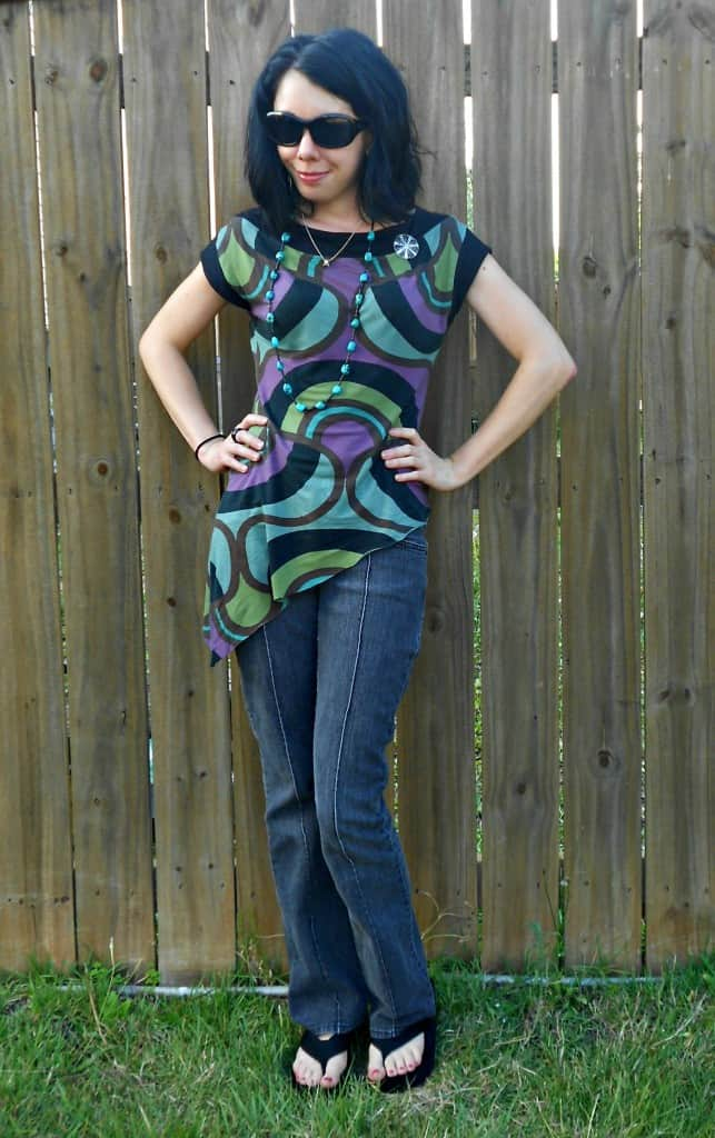 Day 357: Grown Up Enough: A Dress to Asymmetrical Top Refashion 6