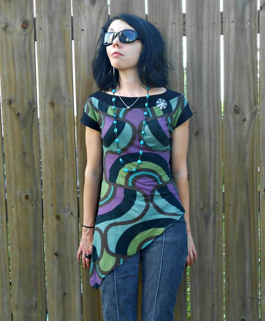 Day 357: Grown Up Enough: A Dress to Asymmetrical Top Refashion 7