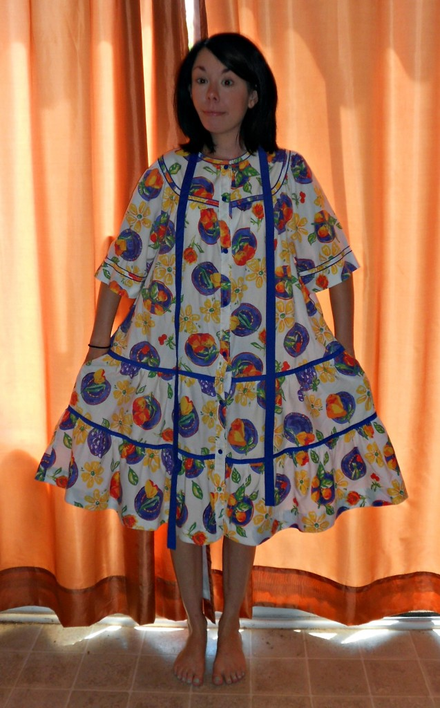 Day 336: Into the Garden: A House Dress to Top Refashion 2