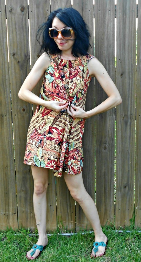No-Sew Skirt to Dress Refashion after