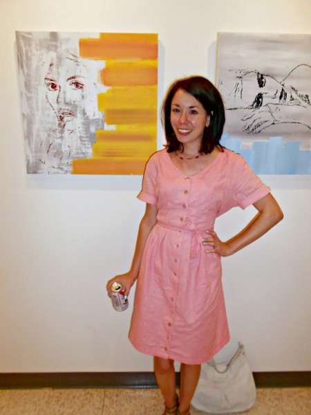 Day 337:  An Art Collector's '90s Collared Dress Refashion 6