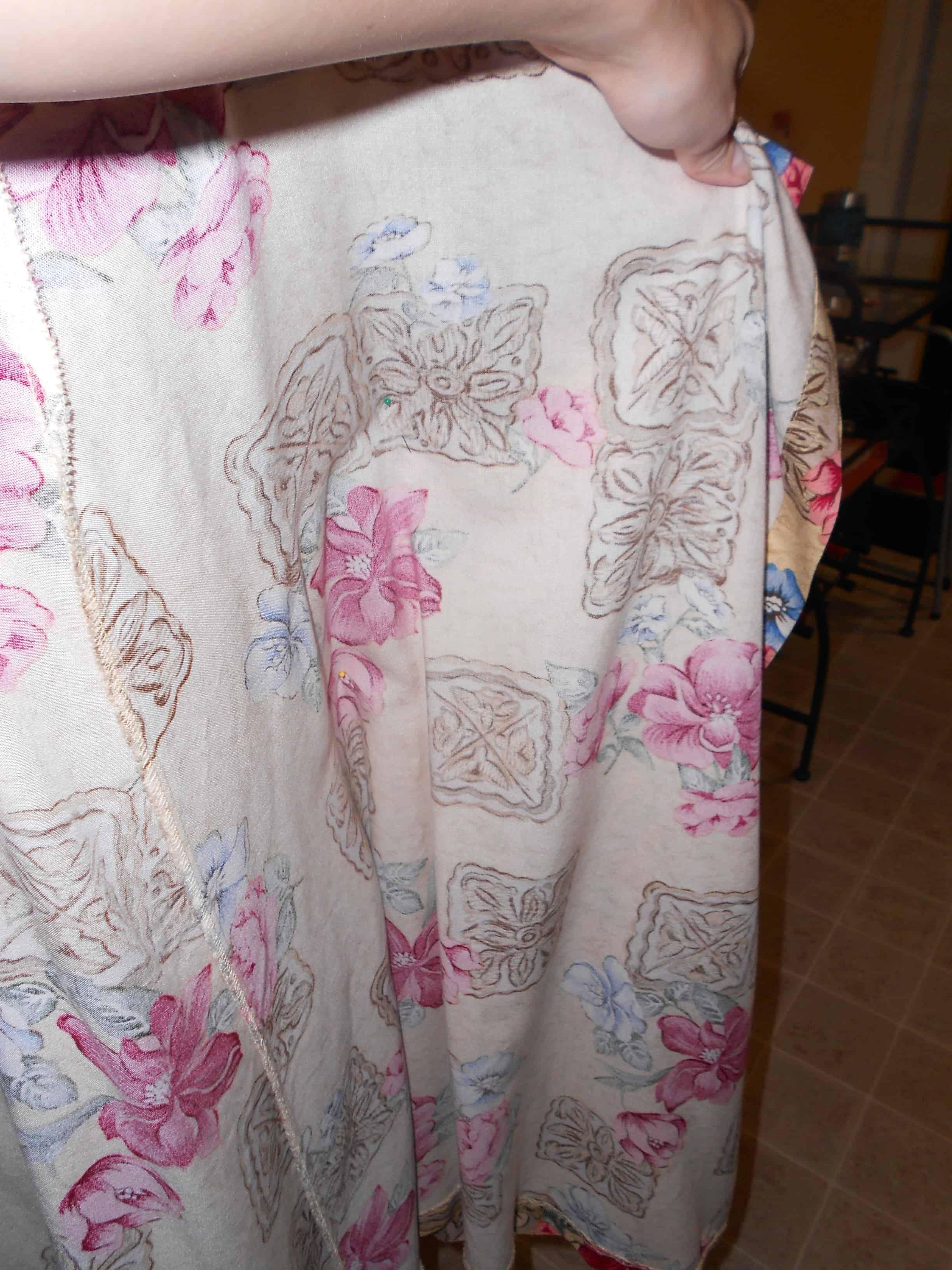 Day 351: Egyptian Papyrus Skirt to Dress Refashion 2